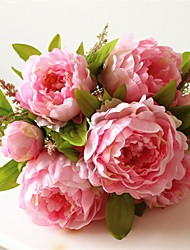 1Piece/Set 1 Branch Silk Peonies Tabletop Flower Artificial Flowers