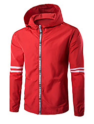 cheap -Men's Sports Simple Casual Cotton Jacket-Solid Colored Hooded