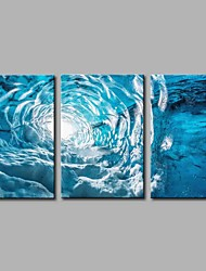 cheap -Hand-Painted Pop Art Horizontal Panoramic, Artistic Nature Inspired Casual Birthday Cool Office/Business Modern/Contemporary New Year's