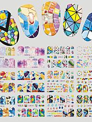 Недорогие -1 Стикер искусства ногтя С рисунком Аксессуары Уход Ар деко / Ретро Наклейка для переноса воды 3-D Мультфильмы Компоненты для