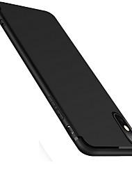 preiswerte -Hülle Für Apple iPhone X iPhone 8 iPhone 8 Plus Mattiert Rückseitenabdeckung Volltonfarbe Weich TPU für iPhone X iPhone 8 Plus iPhone 8