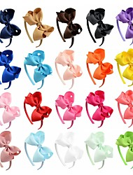 cheap -Children Hair Bands Hair Ornaments Alice Flowers Bow Tie Handmade Wholesale To Map As The Standard 4pcs