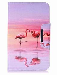 porte-cartes porte-cartes de flamingo avec étui en cuir magnétique pu pour Samsung Galaxy Tab e 8.0 t377 t377v Tablette pc de 8,0 pouces