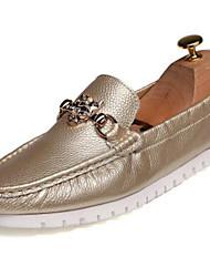 Homme Chaussures Cuir Nappa Automne Hiver Moccasin Mocassins et Chaussons+D6148 Pour Décontracté Soirée & Evénement Or Blanc Noir Bleu