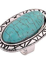baratos -Mulheres Turquesa Anéis para Falanges - Turquesa, Liga Personalizada, Clássico Ajustável Verde Para Casual / Palco