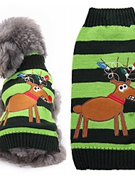 Cat Dog Sweater Dog Clothes Winter Reindeer Cute Fashion Christmas Green Big Dog Sweaters for Pets Dogs