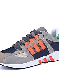 Men's Shoes Tulle Spring Summer Comfort Light Soles Sneakers For Casual Outdoor Dark Gray and Blue Orange/Gray