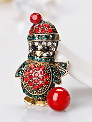 Women's Brooches Cute Style Personalized Rhinestone Alloy Animal Shape Jewelry For Gift Christmas