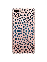 abordables -Funda Para Apple iPhone X iPhone 8 Transparente Diseños Funda Trasera Estampado Leopardo Suave TPU para iPhone X iPhone 8 Plus iPhone 8