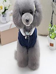 Cane Cappottini Maglioni Abbigliamento per cani Casual Lettere & Numeri Verde blu navy