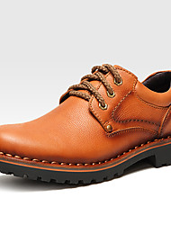 cheap -Men's Shoes Nappa Leather Winter Fall Formal Shoes Oxfords Lace-up for Casual Outdoor Black Coffee Brown