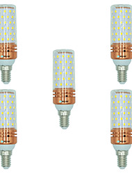cheap -5pcs 16W E14 LED Corn Lights T 84 leds SMD 2835 Warm White White Dual Light Source Color 1300lm 3000-3500  6000-6500  3000-6500K AC
