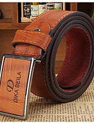 cheap -Men's Party Work Casual Leather Waist Belt - Solid Colored