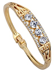 Women's Cuff Bracelet Imitation Diamond Geometric Rhinestone Alloy Circle Jewelry For Daily Stage
