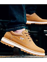 baratos -Masculino sapatos Micofibra Sintética PU Outono Inverno Conforto Oxfords Para Casual Preto Marron
