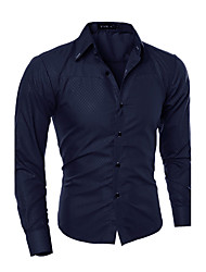 cheap -Men's Business Slim Shirt - Solid