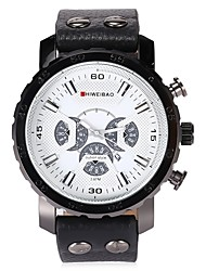 Men's Dress Watch Fashion Watch Casual Watch Chinese Quartz Calendar Chronograph Water Resistant / Water Proof Dual Time Zones Large Dial