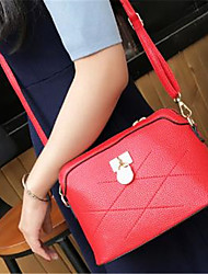 cheap -Women's Bags PU Crossbody Bag Zipper Black / Red / Blushing Pink