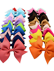 cheap -Handmade Baby Ribbons Bow Hairpin Hair Accessories Children Headdress Wholesale Color Mixed Hair 10pcs