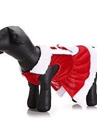 Кошка Собака Костюмы Плащи Платья Одежда для собак Для вечеринки Косплей На каждый день Сохраняет тепло Свадьба Хэллоуин Рождество Новый