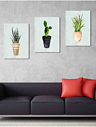 cheap -Hand-Painted Pop Art Horizontal Panoramic,Artistic Nature Inspired Rustic Casual Birthday Modern/Contemporary Office/Business Cool