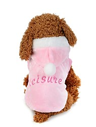Dog Hoodie Dog Clothes Plush Fabric Spring/Fall Winter Casual/Daily Letter & Number Pink For Pets