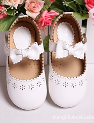 cheap -Girls' Shoes PU Spring Fall Comfort Loafers & Slip-Ons For Casual Blushing Pink Black White