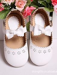 Fille Chaussures Polyuréthane Printemps Automne Confort Mocassins et Chaussons+D6148 Pour Décontracté Blanc Noir Rose