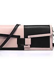 Donna Sacchetti Per tutte le stagioni Vacchetta Pochette Cerniera per Casual Bianco Rosa Viola chiaro