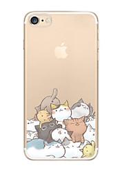 economico -Custodia Per iPhone X iPhone 8 Ultra sottile Transparente Fantasia/disegno Custodia posteriore Gatto Morbido TPU per iPhone X iPhone 8