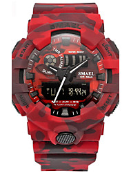 Men's Sport Watch Chinese Digital Calendar Chronograph Water Resistant / Water Proof Alarm Stopwatch PU Band Red Grey Khaki