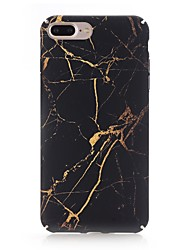 cheap -Case For Apple iPhone X iPhone 8 Frosted Pattern Back Cover Marble Hard PC for iPhone X iPhone 8 Plus iPhone 8 iPhone 7 Plus iPhone 7