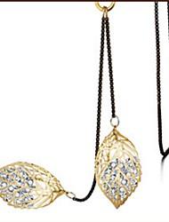 Недорогие -Жен. В форме листа Классика Elegant Ожерелья с подвесками Кристалл Хрусталь Сплав Ожерелья с подвесками , Повседневные