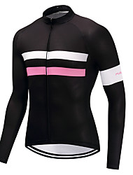 cheap -FUALRNY® Cycling Jersey Men's Long Sleeves Bike Jersey Winter Bike Wear High Elasticity Road Cycling Cycling / Bike Bike Mountain