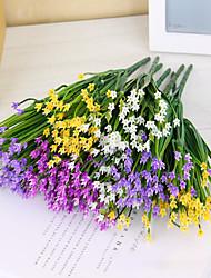 3pcs Simulation Plastic Flowers Silk Flower  32CM 7 Fork Leek Grass