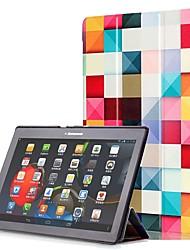 abordables -Funda Para Lenovo Funda de Cuerpo Entero / Casos Tablet Dura Cuero de PU para Lenovo Tab 3 10 Plus
