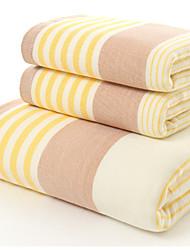 Недорогие -Свежий стиль Банное полотенце,В полоску Высшее качество Полиэстер / хлопок Полотенце