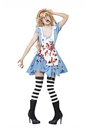 Angel / Devil Zombie Vampire One Piece Dress Cosplay Costumes Masquerade Female Halloween Carnival Day of the Dead Festival / Holiday