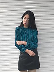 preiswerte -Damen Langarm Pullover Solide Kunst-Pelz