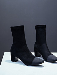 Women's Shoes Fleece Winter Fashion Boots Boots Booties/Ankle Boots For Casual Black