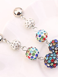 cheap -Women's Long Drop Earrings - Ball Fashion Blue / Black / White / Rainbow For Party