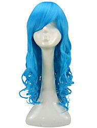 cheap -Synthetic Wig Curly Synthetic Hair Blue Wig Women's Long Capless Light Blue