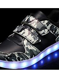 baratos -Para Meninos Sapatos Micofibra Sintética PU Outono Conforto Tênis para Branco / Preto / Verde Tropa