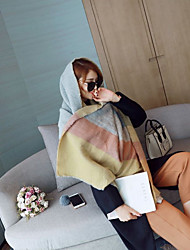 cheap -Women's Imitation Cashmere Rectangle Striped Spring/Fall Winter