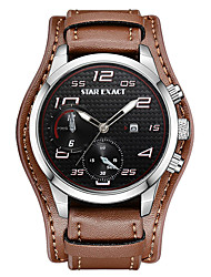 cheap -Men's Sport Watch Chinese Calendar / date / day / Cool / Punk PU Band Luxury / Casual / Fashion Brown / Large Dial