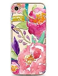economico -Custodia Per iPhone X iPhone 8 Ultra sottile Transparente Fantasia/disegno Custodia posteriore Fiore decorativo Morbido TPU per iPhone X