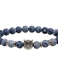 cheap -Men's Women's Strand Bracelet Onyx Fashion Vintage Natural Stone Owl Jewelry For Casual Going out