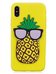 """economico -Per iPhone X iPhone 8 Custodie cover Fantasia/disegno Fai da te Custodia posteriore Custodia Fantasia """"Cartone 3D"""" Frutta Morbido TPU per"""