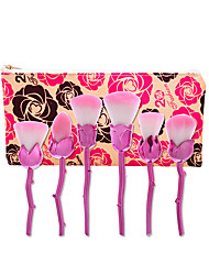 1set ensembles de brosses Pinceau en Nylon Anti-Friction Antiadhésif Visage