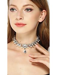 billiga -Dam Kristall Chokerhalsband - Silver Halsband Smycken Till Bröllop, Party
